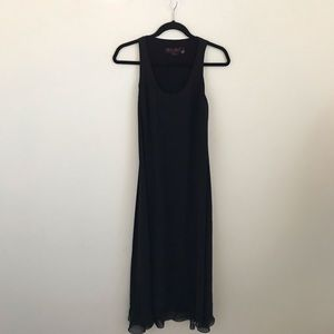 Alice + Olivia black Chiffon Maxi Dress Size S